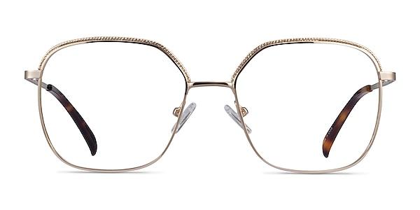 Chai Light Gold Metal Eyeglass Frames