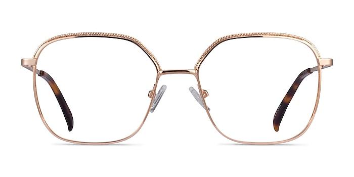 Chai Rose Gold Métal Montures de lunettes de vue d'EyeBuyDirect