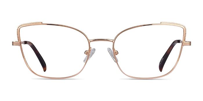 Exquisite Rose Gold Metal Eyeglass Frames from EyeBuyDirect
