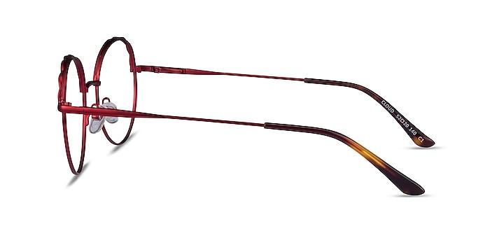 Cloud Burgundy Metal Eyeglass Frames from EyeBuyDirect