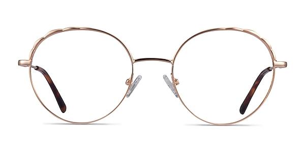 Cloud Rose Gold Métal Montures de lunettes de vue