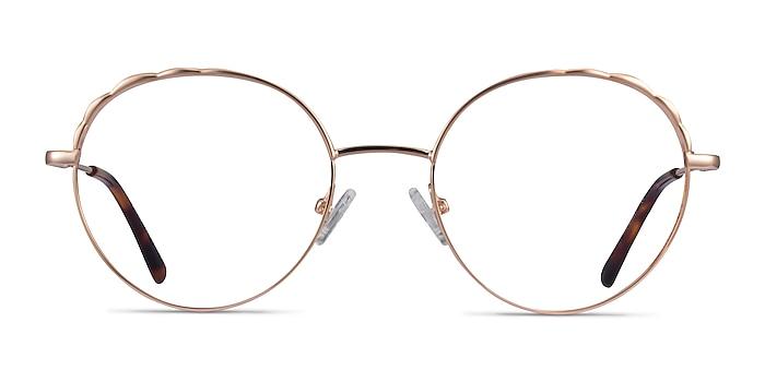 Cloud Rose Gold Metal Eyeglass Frames from EyeBuyDirect