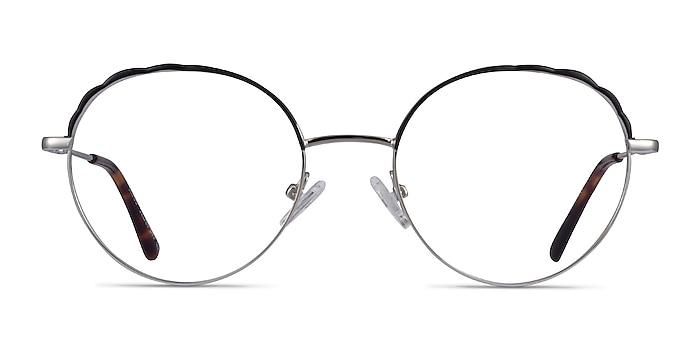 Cloud Silver Black Metal Eyeglass Frames from EyeBuyDirect