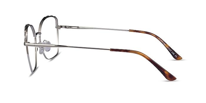 Rapture Silver Metal Eyeglass Frames from EyeBuyDirect