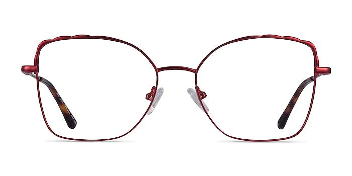 Rapture Burgundy Metal Eyeglass Frames from EyeBuyDirect