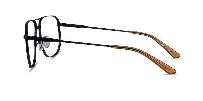 Dynamic Matte Black Métal Montures de lunettes de vue d'EyeBuyDirect