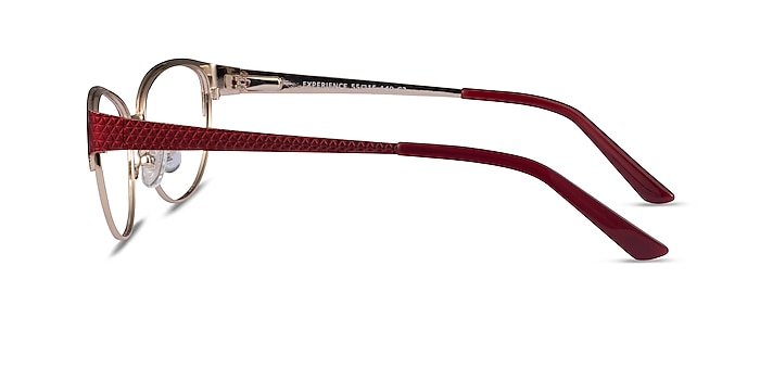 Experience Red Gold Metal Eyeglass Frames from EyeBuyDirect