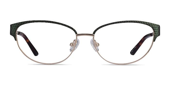 Experience Green Gold Métal Montures de lunettes de vue d'EyeBuyDirect