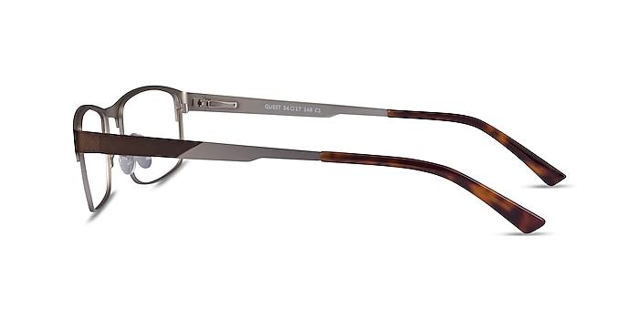 Quest Bronze Silver Metal Eyeglass Frames from EyeBuyDirect