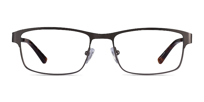 Quest Gunmetal Metal Eyeglass Frames from EyeBuyDirect