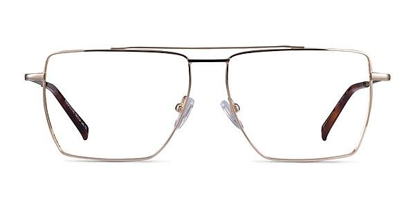 Perspective Gold Metal Eyeglass Frames