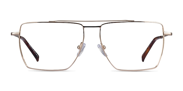 Perspective Gold Metal Eyeglass Frames from EyeBuyDirect