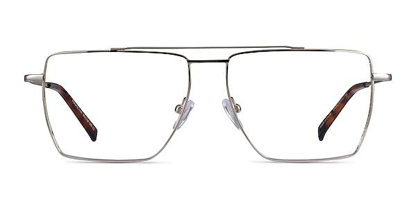 Perspective Silver Metal Eyeglass Frames