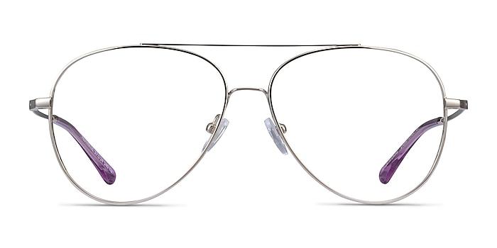 Aesthetic Argenté Métal Montures de lunettes de vue d'EyeBuyDirect