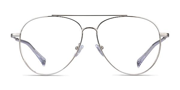Jerrie Silver Metal Eyeglass Frames