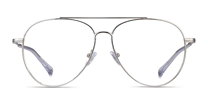 Jerrie Argenté Métal Montures de lunettes de vue d'EyeBuyDirect