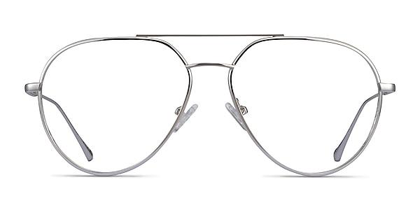 Telescope Silver Metal Eyeglass Frames