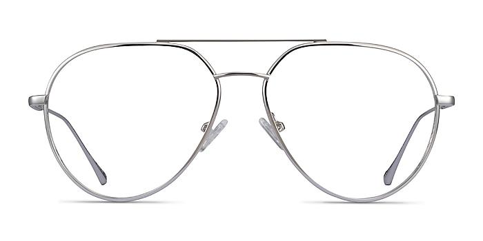 Telescope Argenté Métal Montures de lunettes de vue d'EyeBuyDirect
