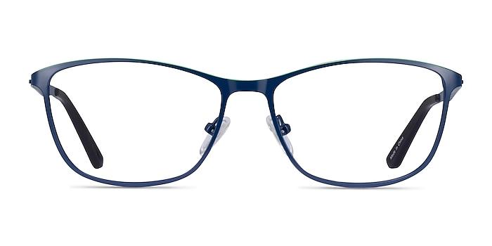 Lucas Navy Green Métal Montures de lunettes de vue d'EyeBuyDirect