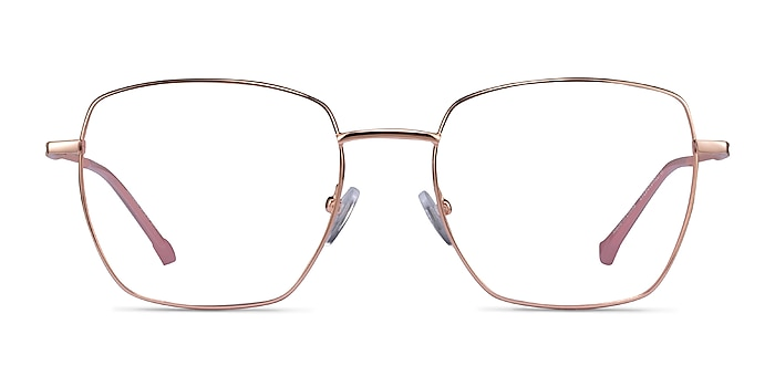 Genuine Rose Gold Pink Metal Eyeglass Frames from EyeBuyDirect
