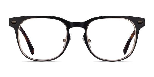 Fleming Matte Black Gold Metal Eyeglass Frames