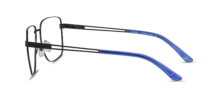 Hybrid Black Metal Eyeglass Frames from EyeBuyDirect