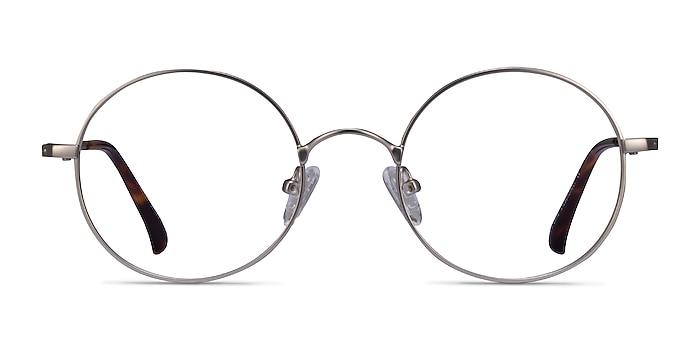 Lanscilo Matte Silver Metal Eyeglass Frames from EyeBuyDirect