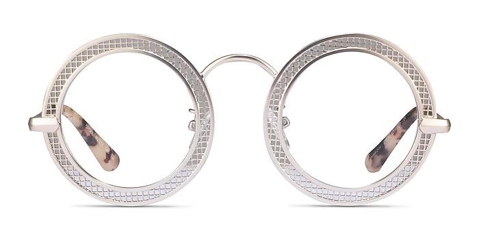 Spoke Matte Gold Metal Eyeglass Frames from EyeBuyDirect