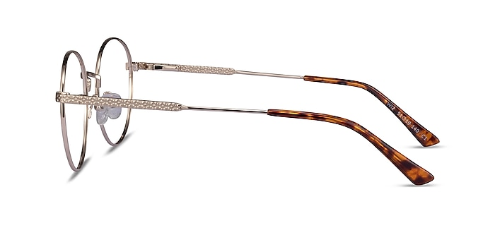 Wiz Gold Tortoise Metal Eyeglass Frames from EyeBuyDirect