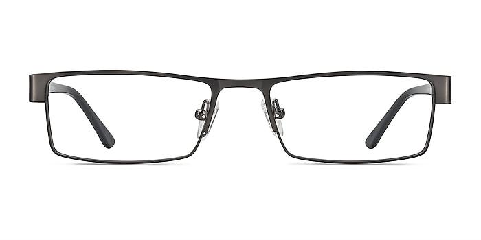 Bennett Gunmetal Metal Eyeglass Frames from EyeBuyDirect