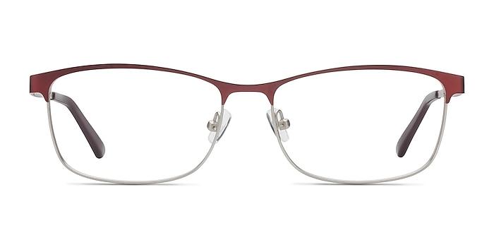 Ashlyn Red Metal Eyeglass Frames from EyeBuyDirect