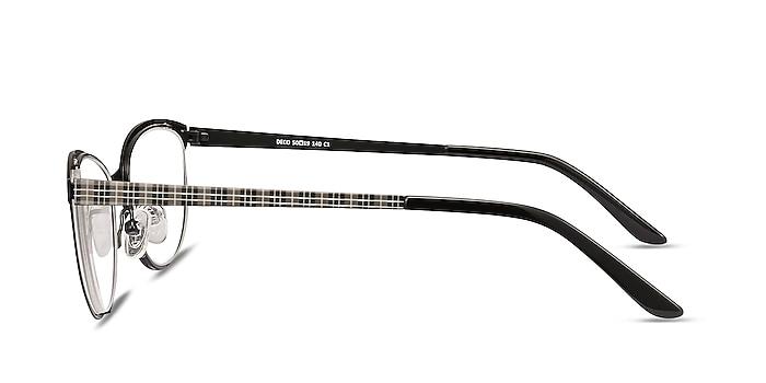 Deco Black Gray Métal Montures de lunettes de vue d'EyeBuyDirect
