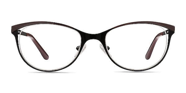 Deco Black Red Metal Eyeglass Frames