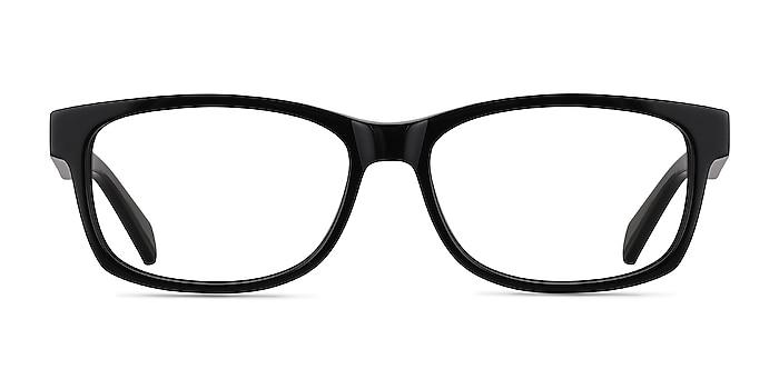 Kyle Black Acetate Eyeglass Frames from EyeBuyDirect