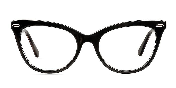 Anika Black Acetate Eyeglass Frames from EyeBuyDirect