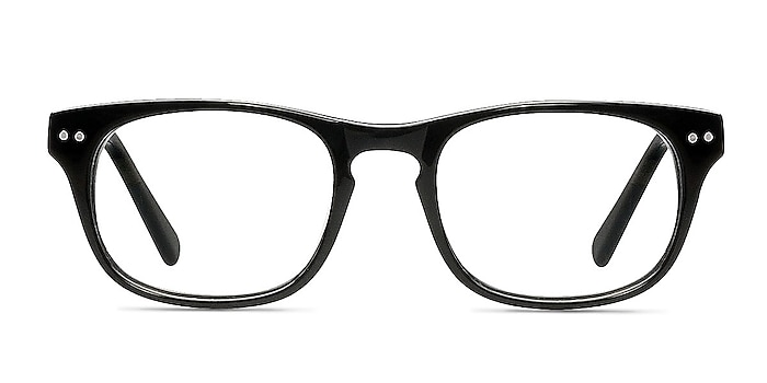 Carla Black Acetate Eyeglass Frames from EyeBuyDirect