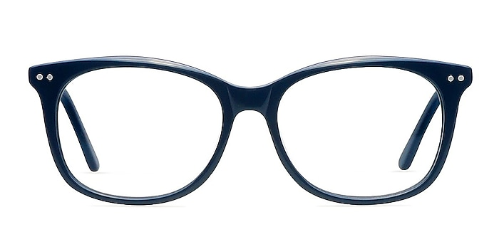 Brittany Navy Acetate Eyeglass Frames from EyeBuyDirect