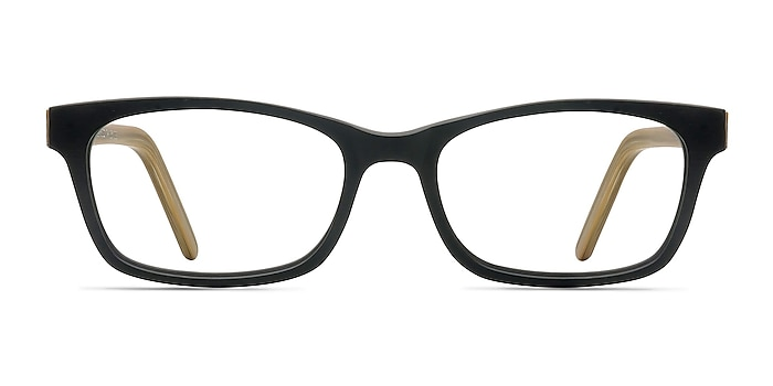Mesquite  Black/Yellow Acétate Montures de lunettes de vue d'EyeBuyDirect