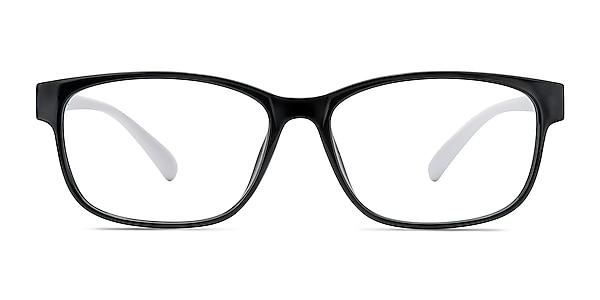 Robbie Black/White Plastic Eyeglass Frames