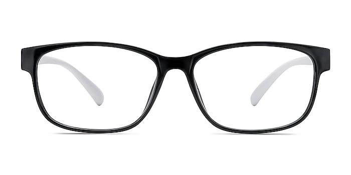 Robbie Black/White Plastique Montures de lunettes de vue d'EyeBuyDirect