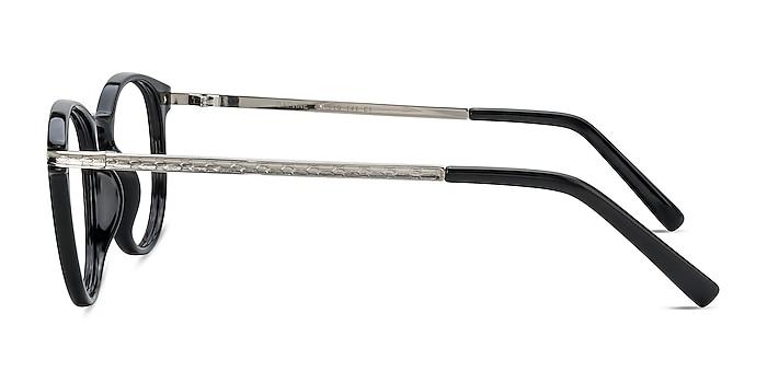 Daphne Black Plastic-metal Eyeglass Frames from EyeBuyDirect