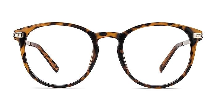 Daphne Brown/Tortoise Plastic-metal Eyeglass Frames from EyeBuyDirect