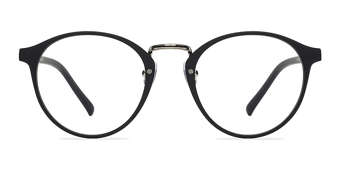 Chillax Matte Black/Silver Plastic Eyeglass Frames from EyeBuyDirect