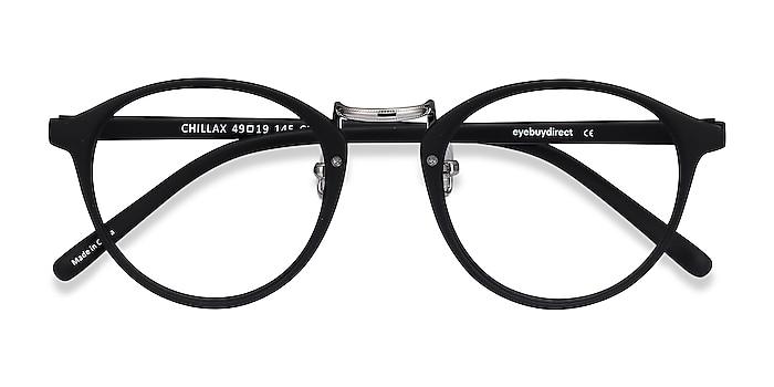 Matte Black/Silver Chillax -  Fashion Plastic Eyeglasses
