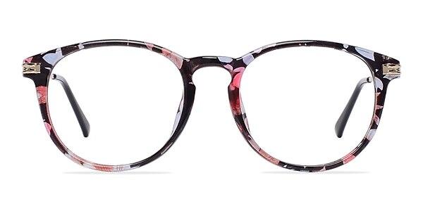 Muse Blue Floral Plastic-metal Eyeglass Frames