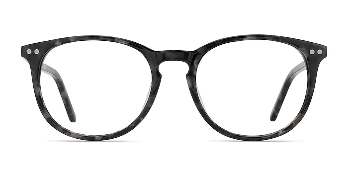 Fiction Gray/Floral Acetate Eyeglass Frames from EyeBuyDirect