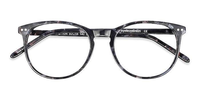 Gray/Floral Fiction -  Classic Acetate Eyeglasses