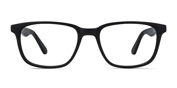 Bristol Matte Black Acétate Montures de lunettes de vue