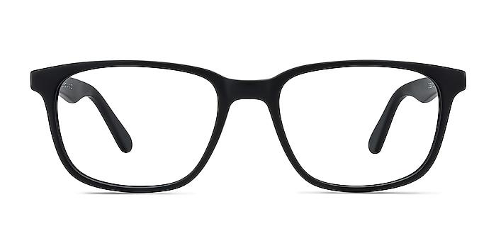 Bristol Matte Black Acetate Eyeglass Frames from EyeBuyDirect