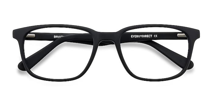 Matte Black Bristol -  Acetate Eyeglasses